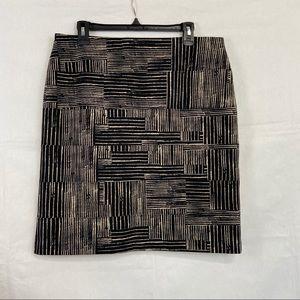 Alfani Geometric Striped Pencil Skirt